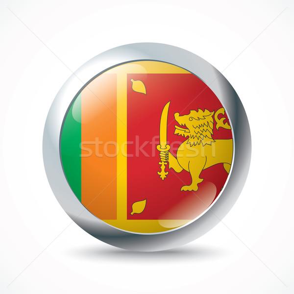 Sri Lanka zászló gomb felirat utazás szín Stock fotó © ojal