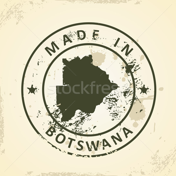 Tampon carte Botswana grunge design graphique Photo stock © ojal