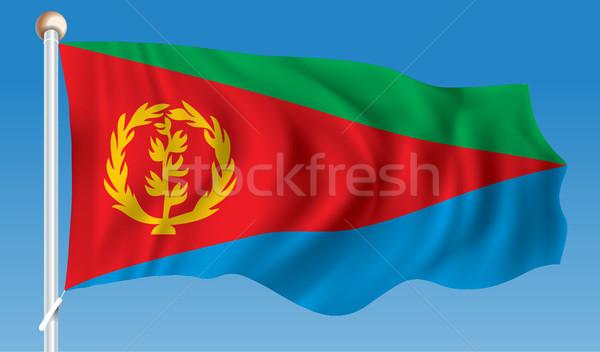 флаг Эритрея аннотация фон искусства красный Сток-фото © ojal
