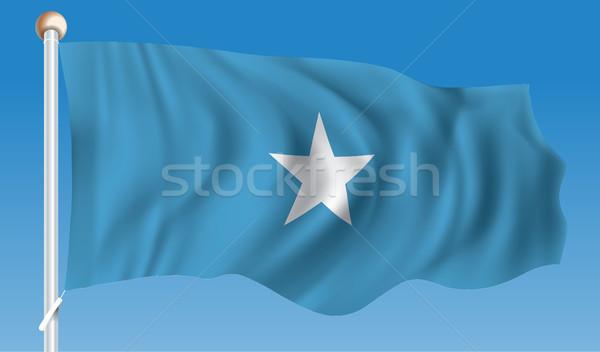 フラグ ソマリア テクスチャ 青 星 風 ストックフォト © ojal