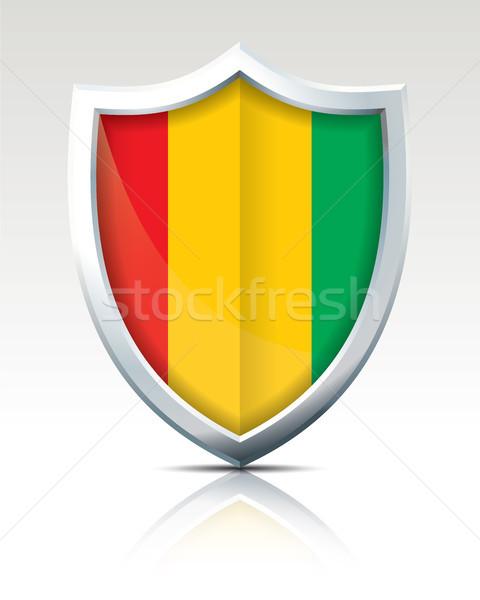 Pajzs zászló Guinea textúra utazás Afrika Stock fotó © ojal