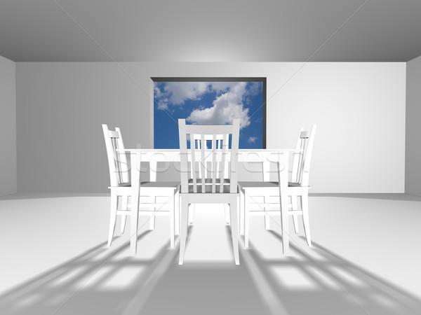 Interieur witte kamer mode ontwerp home Stockfoto © ojal