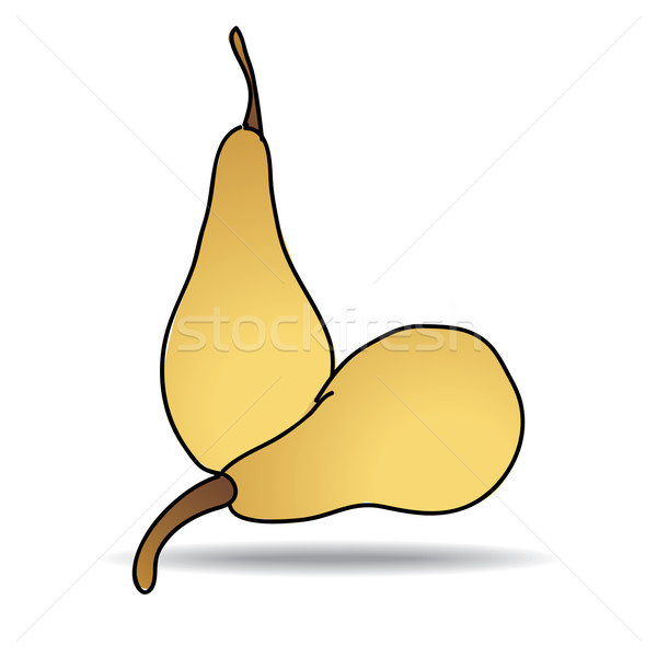 Freehand drawing pear icon Stock photo © ojal