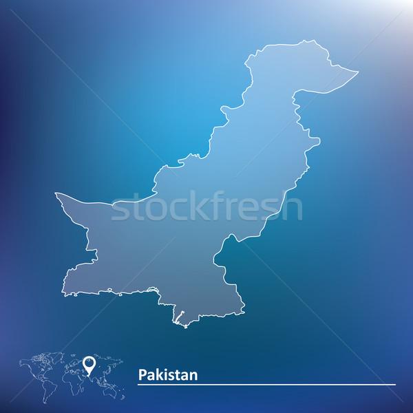 Kaart Pakistan achtergrond aarde teken groene Stockfoto © ojal