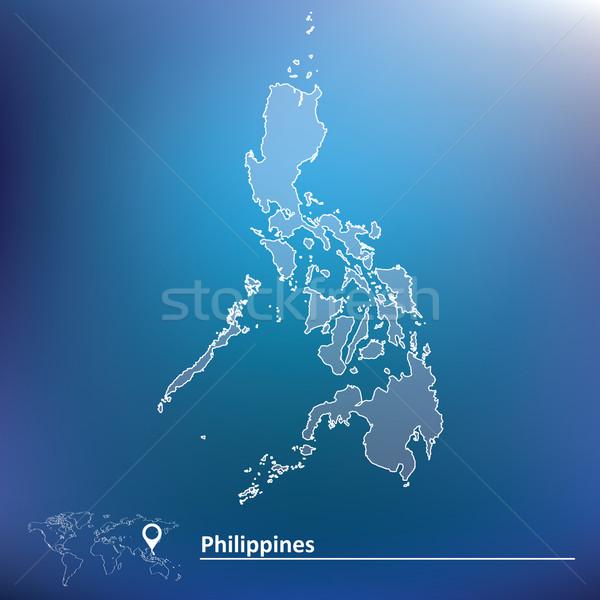 Mapa Filipinas viajar asiático vento Ásia Foto stock © ojal