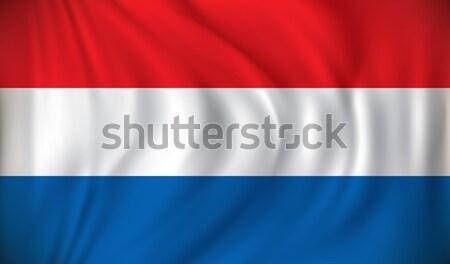 Vlag Nederland wereld silhouet kleur digitale Stockfoto © ojal