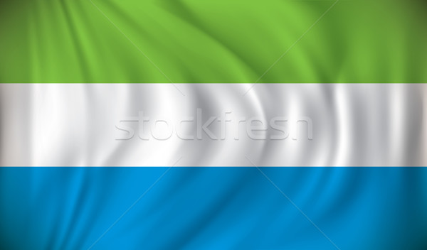 Flag of Sierra Leone Stock photo © ojal