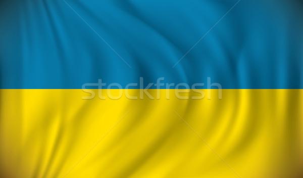 флаг Украина дизайна фон искусства путешествия Сток-фото © ojal