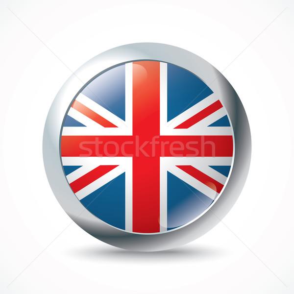 Egyesült Királyság zászló gomb tenger kereszt háttér Stock fotó © ojal
