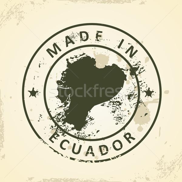 Stempel kaart Ecuador grunge textuur achtergrond Stockfoto © ojal