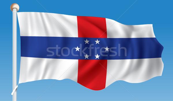Flagge Niederlande Karte Reise Silhouette Wind Stock foto © ojal