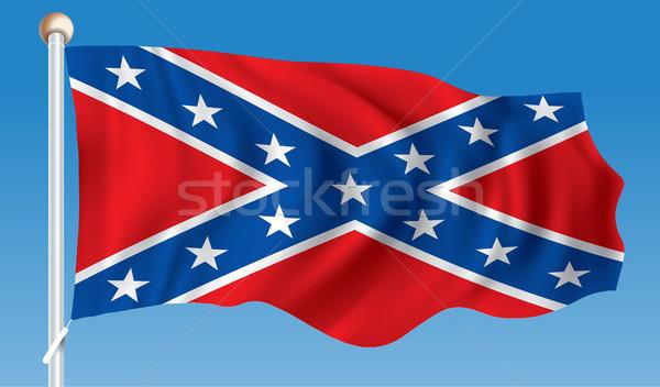 Flag of Confederate Stock photo © ojal
