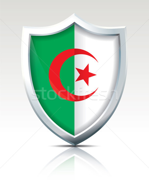 Schild vlag Algerije abstract wereld frame Stockfoto © ojal