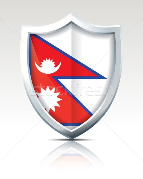 Shield with Flag of Nepal Stock photo © ojal