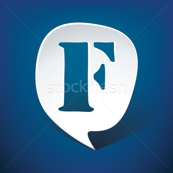 Bubble speech letter F Stock photo © ojal