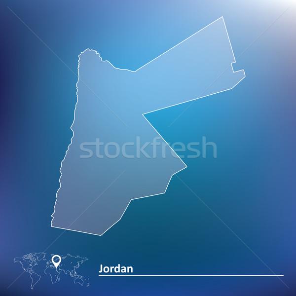 Karte Jordan Textur Zeichen grünen Wind Stock foto © ojal