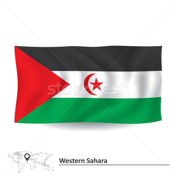 Vlag westerse sahara kaart maan star Stockfoto © ojal
