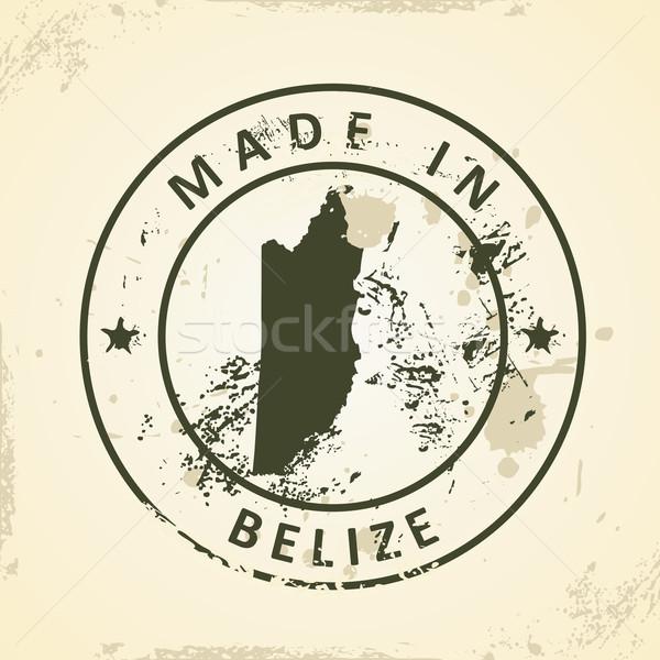 Bélyeg térkép Belize grunge Föld művészet Stock fotó © ojal