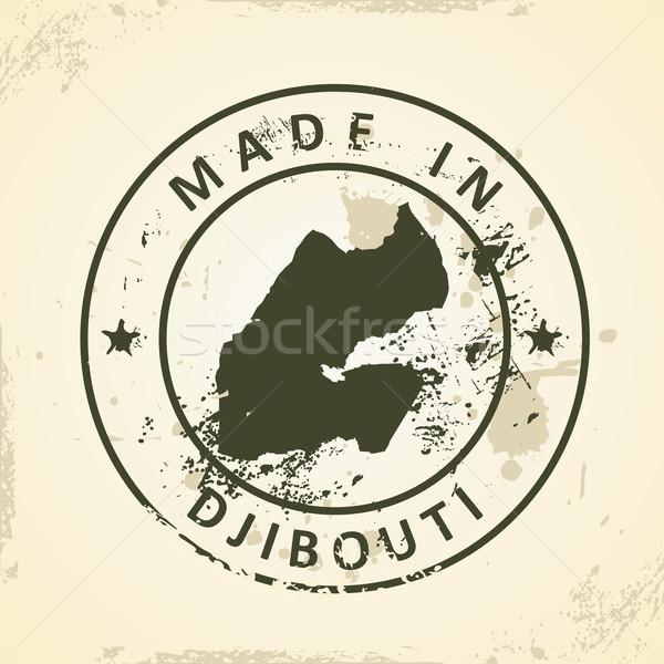 штампа карта Джибути Гранж аннотация Мир Сток-фото © ojal