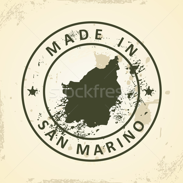 штампа карта Сан-Марино Гранж текстуры город Сток-фото © ojal