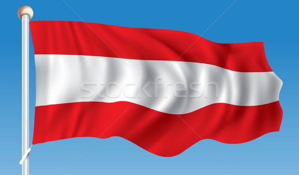 флаг Австрия свет дизайна Мир искусства Сток-фото © ojal