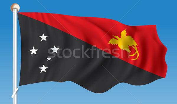 флаг Папуа-Новая Гвинея текстуры карта дизайна Мир Сток-фото © ojal