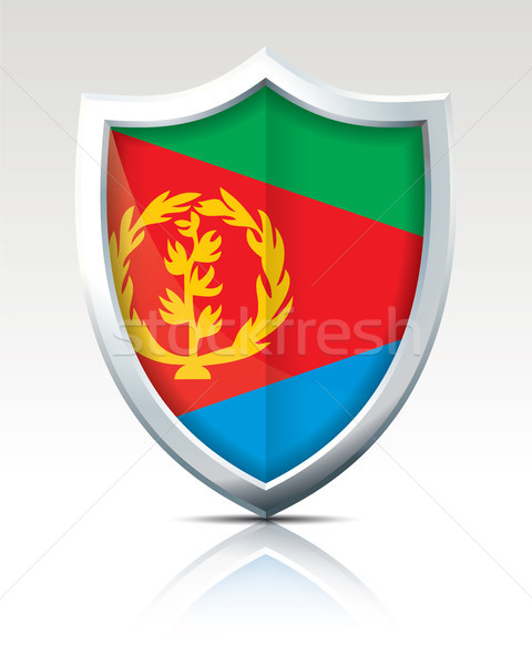 Shield with Flag of Eritrea Stock photo © ojal