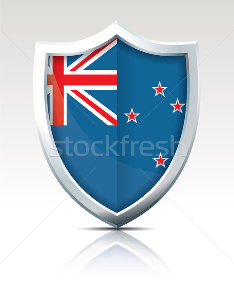 Shield with Flag of New Zealand Stock photo © ojal