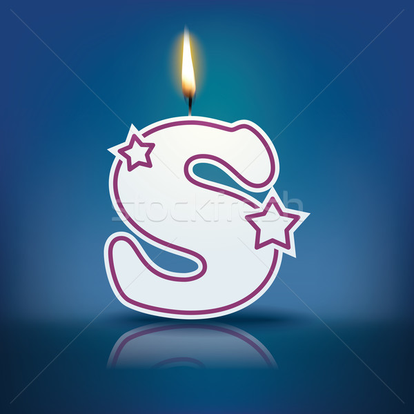 Candle letter S with flame Stock photo © ojal