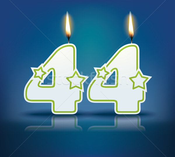 Birthday candle number 44 Stock photo © ojal