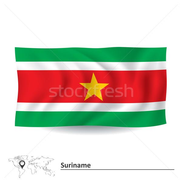 Сток-фото: флаг · Суринам · карта · Мир · зеленый · Африка