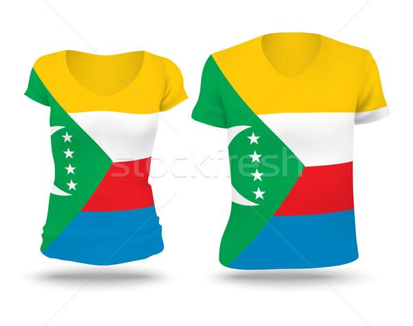 Flag shirt design of Comoros Stock photo © ojal
