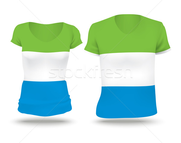 Flag shirt design of Sierra Leone Stock photo © ojal