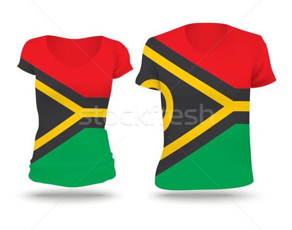 Flag shirt design of Vanuatu Stock photo © ojal
