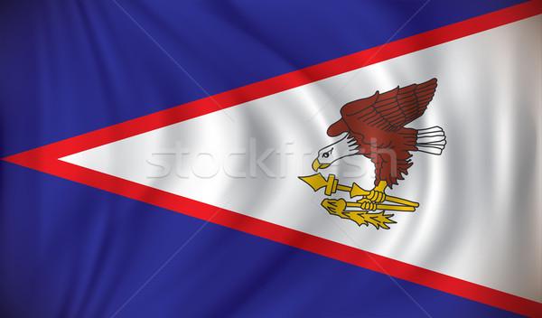 Bandeira Samoa Americana mapa tecnologia arte teia Foto stock © ojal