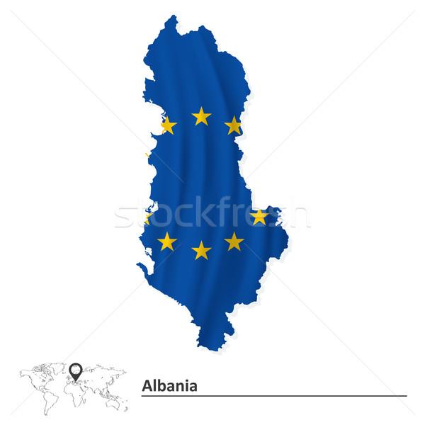 Mapa Albânia europeu união bandeira mundo Foto stock © ojal