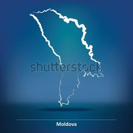 Firka térkép Moldova üzlet textúra földgömb Stock fotó © ojal