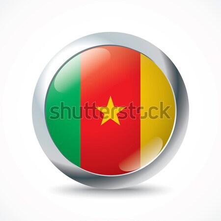 Cameroon flag button Stock photo © ojal