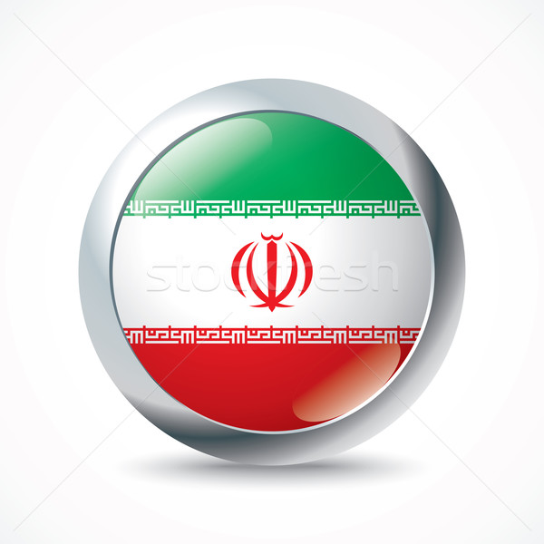 Iran flag button Stock photo © ojal