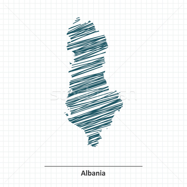 Doodle sketch of Albania map Stock photo © ojal