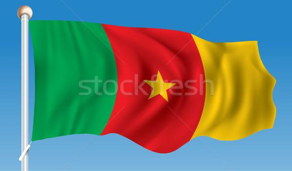 Vlag Kameroen textuur abstract wereld afrika Stockfoto © ojal