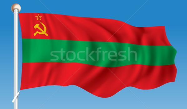 Bandeira mão projeto fundo quadro verde Foto stock © ojal