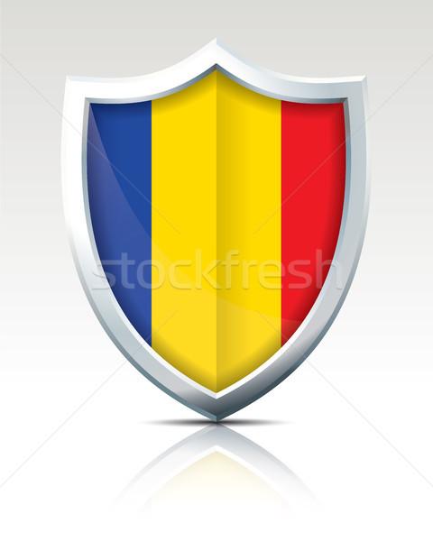 щит флаг Румыния Мир искусства знак Сток-фото © ojal