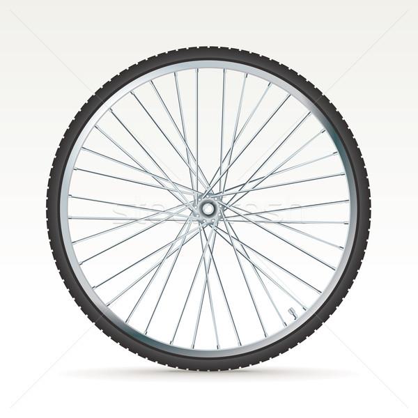 Vettore bike ruota 3D sport fitness Foto d'archivio © ojal
