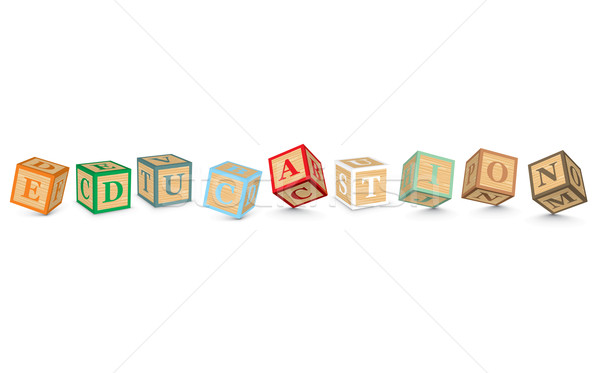 Word EDUCATION written with alphabet blocks Stock photo © ojal