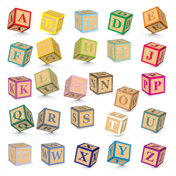 Vector alphabet blocks Stock photo © ojal