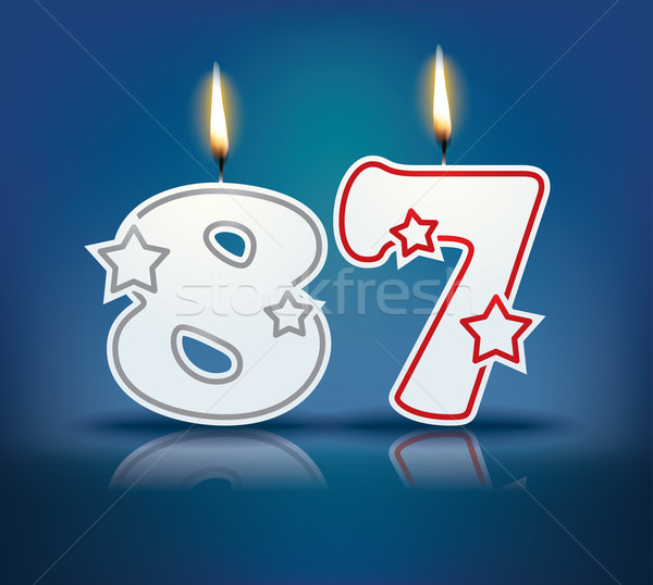 Birthday candle number 87 Stock photo © ojal