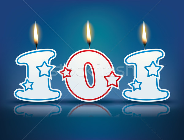 Birthday candle number 101 Stock photo © ojal