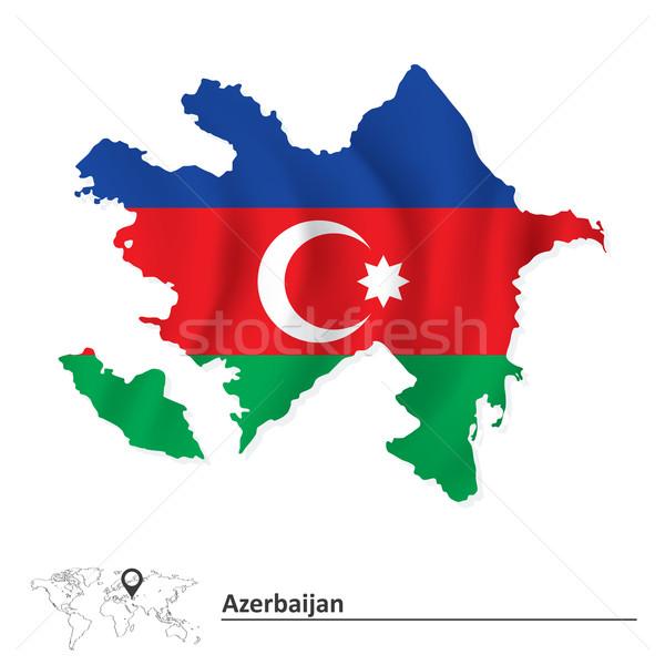 Kaart Azerbeidzjan vlag textuur abstract wereld Stockfoto © ojal