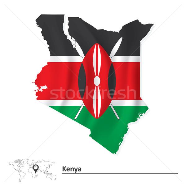 Pokaż Kenia banderą tekstury świat tle Zdjęcia stock © ojal